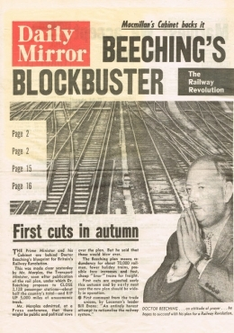 Daily Mirror - Beeching's Blockbuster