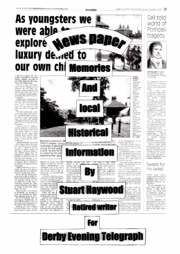 Newspaper Memories and Local Historical Information